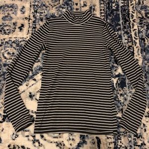 Abercrombie Stretchy Ribbed Striped Turtle Neck